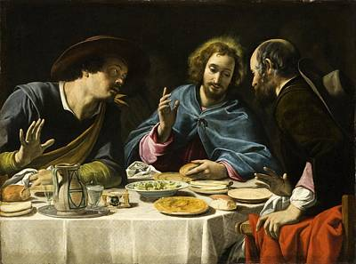 Emmaus Painting - The Supper At Emmaus by Celestial Images