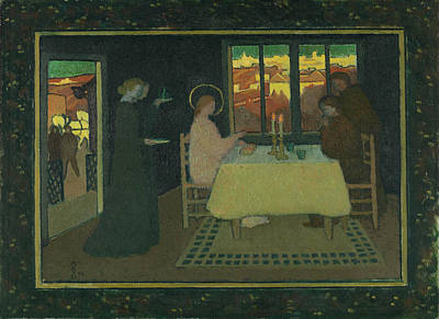 Supper At Emmaus Painting - The Supper At Emmaus by Maurice Denis
