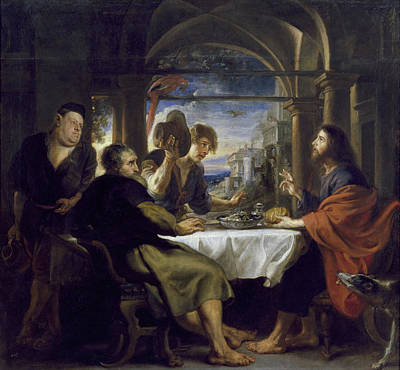 Disciples Painting - The Supper At Emmaus by Peter Paul Rubens