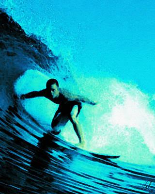 Wave Surfer Digital Art - The Surfer by Jessica B