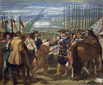 Horse Painting - The Surrender Of Breda by Diego Velazquez