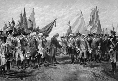 Benjamin Drawing - The Surrender Of Cornwallis At Yorktown by War Is Hell Store