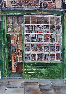 The Sweet Shop Art Print by Victoria Heryet
