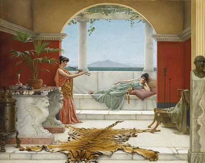 Painting - The Sweet Siesta Of A Summer Day by John William Godward