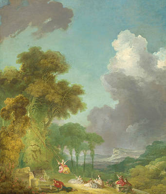 18th Century Painting - The Swing  by Jean-Honore Fragonard