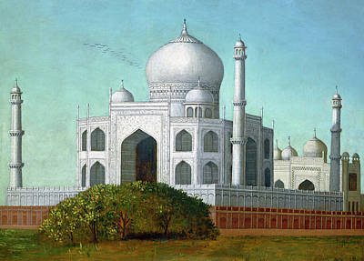 Painting - The Taj Mahal by Erastus Salisbury Field