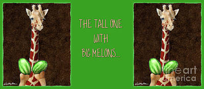 Watermelon Painting - The Tall One With Big Melons... by Will Bullas