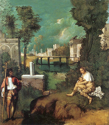 Suckling Painting - The Tempest by Giorgione