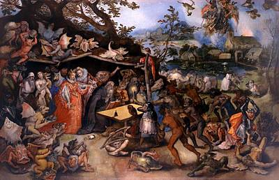 Christian Artwork Painting - The Temptation Of Saint Anthony by Mountain Dreams