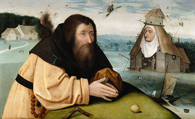 Saint Painting - The Temptations Of Saint Anthony Abbot by Hieronymus Bosch