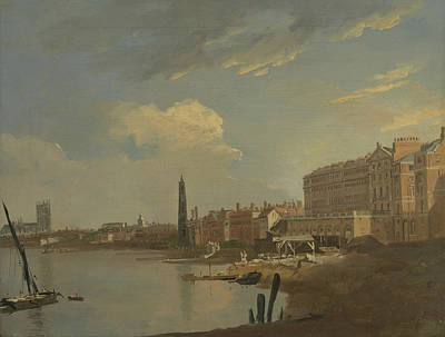 Painting - The Thames And The Adelphi by Treasury Classics Art