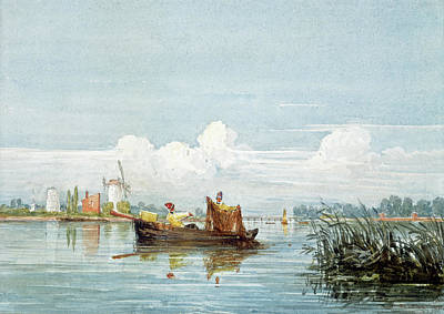 Painting - The Thames At Battersea by David Cox