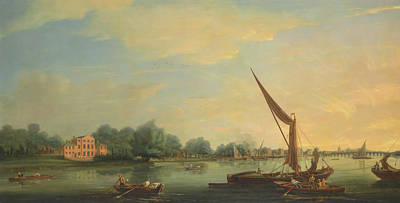 The Thames At Chelsea Art Print by Thomas Whitcombe
