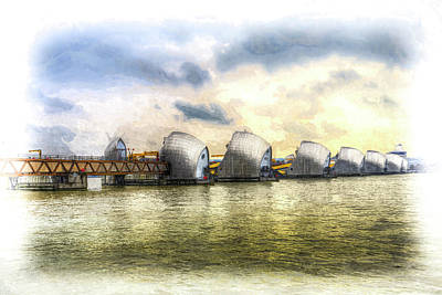 Photograph - The Thames Barrier London Art by David Pyatt