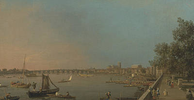 Painting - The Thames From The Terrace Of Somerset House, Looking Toward Westminster by Canaletto