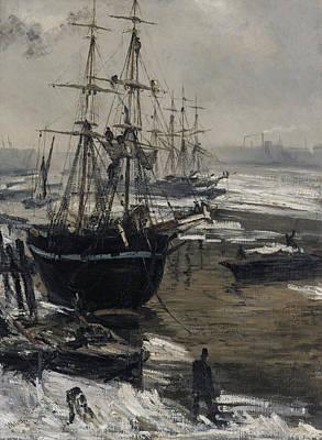 James Abbott Mcneill Whistler Painting - The Thames In Ice by James Abbott McNeill Whistler