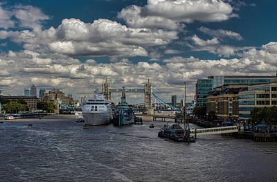 Warships Photograph - The Thames London by Martin Newman