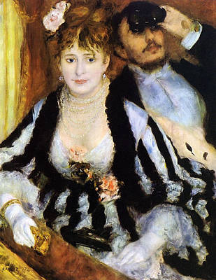 Cultural Painting - The Theater Box by Pierre-Auguste Renoir