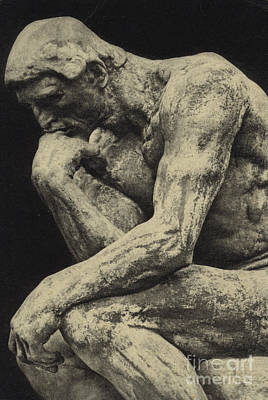 Thoughtful Photograph - The Thinker by Auguste Rodin