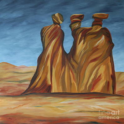 Art Print featuring the painting The Three Gossips by Christiane Schulze Art And Photography