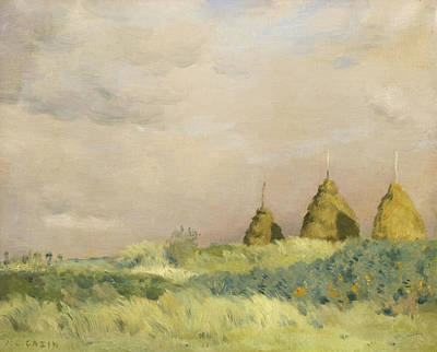 Jean Charles Cazin Painting - The Three Stacks by Jean-Charles Cazin