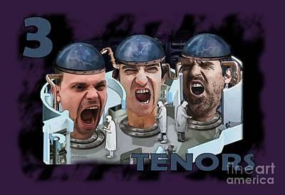 Digital Art - The Three Tenors by Joseph Juvenal
