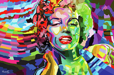 Painting - The Timeless Norma Jean by Anthony Mwangi
