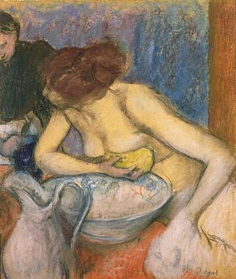 Ewer Pastel - The Toilet by Edgar Degas