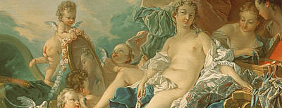 Boucher Painting - The Toilet Of Venus by Francois Boucher