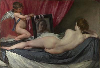 Digital Art - The Toilet Of Venus The Rokeby Venus by Diego Velazquez
