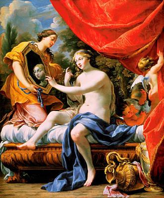 The Toilette Of Venus Painting - The Toilette Of Venus by Simon Vouet
