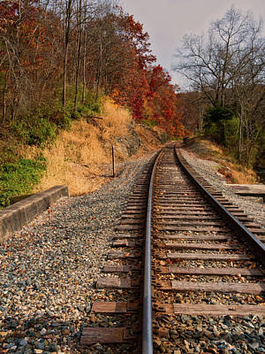 Art Print featuring the photograph The Tracks In The Fall by Mark Dodd