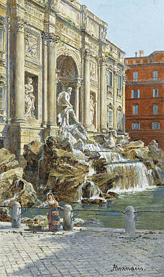 Painting - The Trevi Fountain In Rome by Antonietta Brandeis