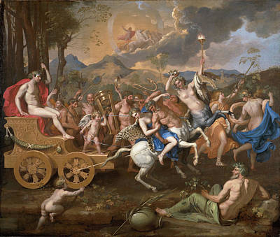 The Triumph Of Bacchus Print by Nicolas Poussin