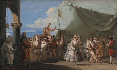 Painting - The Triumph Of Pulcinella by Giovanni Domenico Tiepolo