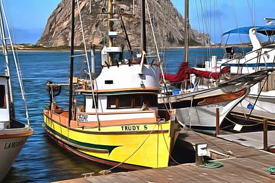 The Trudy S Morro Bay California Painting Art Print by Barbara Snyder
