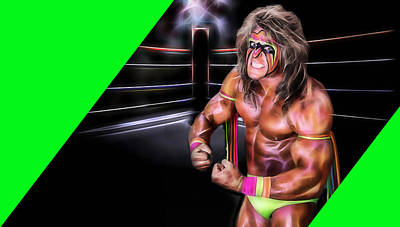 Mixed Media - The Ultimate Warrior Collection by Marvin Blaine