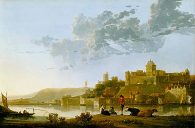 Marine Painting - The Valkhof At Nijmegen by Aelbert Cuyp