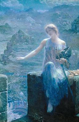 Painting - The Valkyrie's Vigil by Edward Robert Hughes