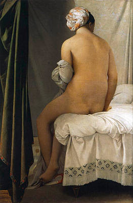 Bed Painting - The Valpincon Bather by Jean-Auguste-Dominique Ingres