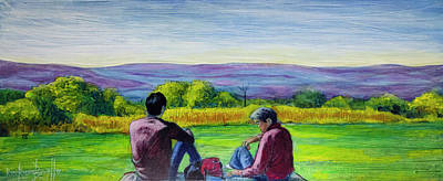 Painting - The View by Ron Richard Baviello