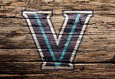Murphy Mixed Media - The Villanova Wildcats 1a by Brian Reaves