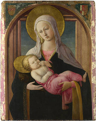 Digital Art - The Virgin And Child by Fra Filippo Lippi and workshop