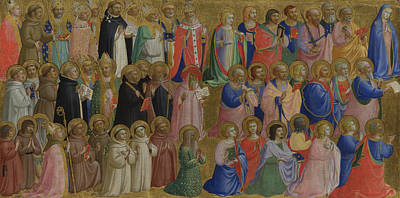 Digital Art - The Virgin Mary With The Apostles And Other Saints by Fra Angelico