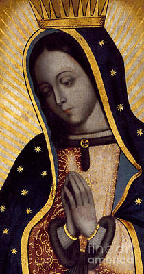 Virgin Mary Painting - The Virgin Of Guadalupe by Mexican School