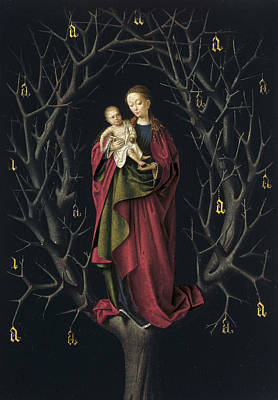 Madonna And Child Painting - The Virgin Of The Dry Tree by Petrus Christus