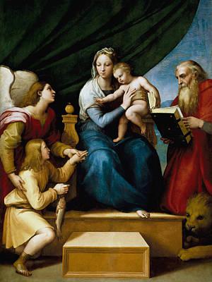The Virgin With A Fish Art Print by Raffaello Sanzio
