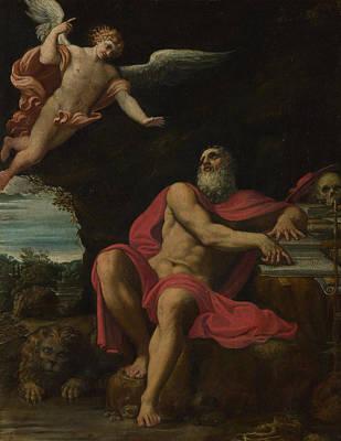 Digital Art - The Vision Of Saint Jerome by Domenichino