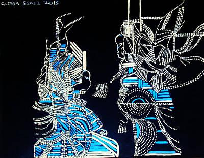 Gloria Ssali Ceramics Painting - The Visitation by Gloria Ssali