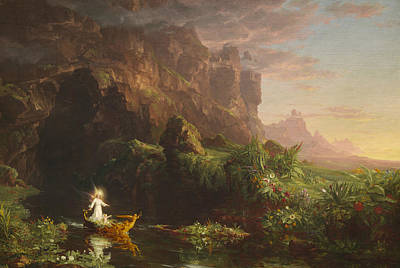 The Voyage Of Life, Childhood Art Print by Thomas Cole